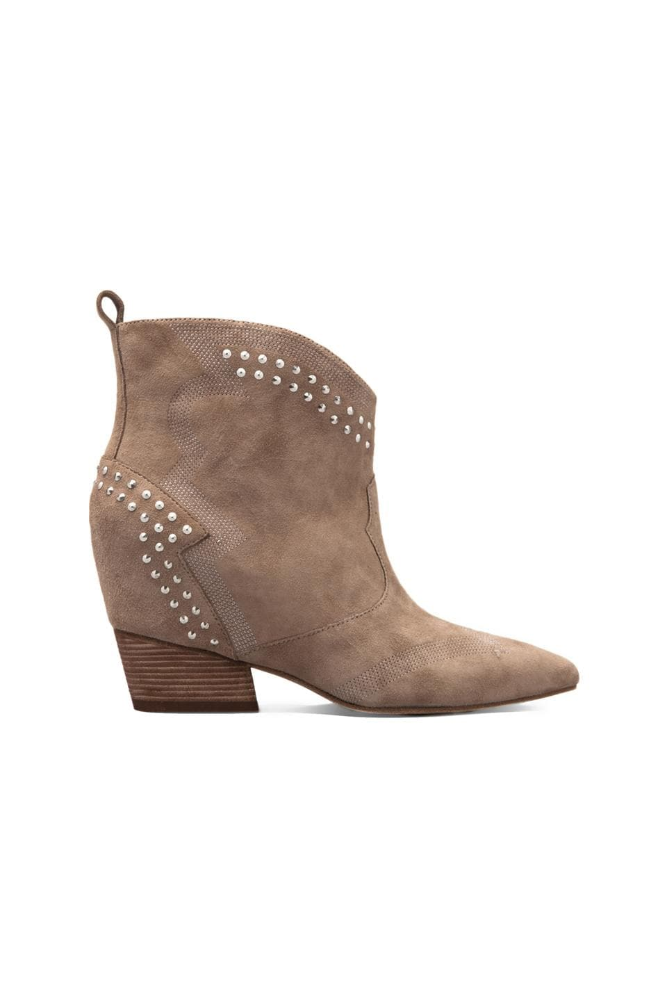 Sigerson Morrison Accent Hidden Wedge Bootie in Stone