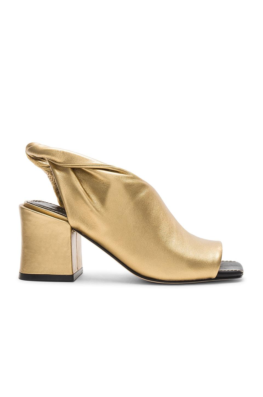 Sigerson Morrison Lenny Metallic Heel in Gold