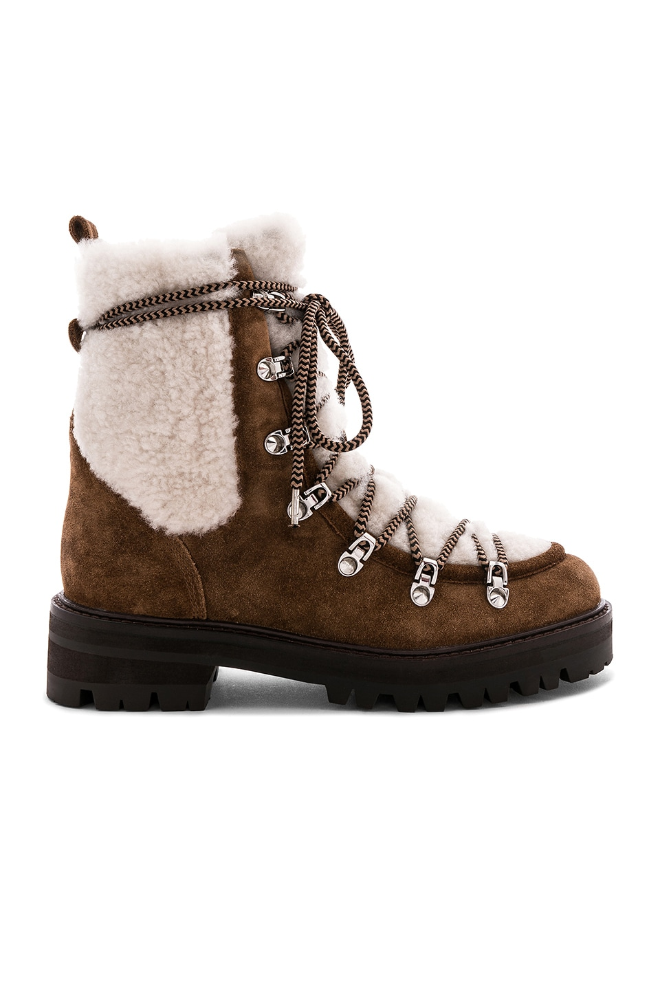 Sigerson Morrison Isla Fur Boot in Farro & Natural
