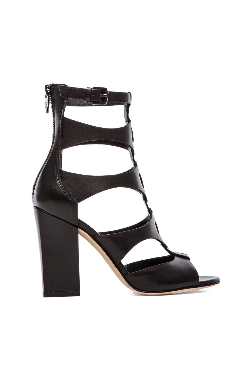 Sigerson Morrison Vachael Chunky Heel Sandal in Black