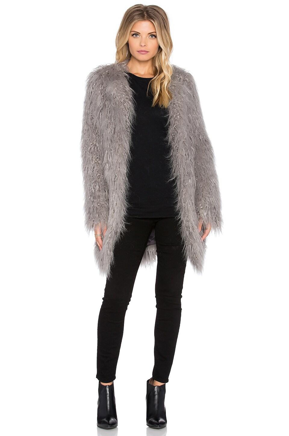 Mongolian Faux Fur Coat at Revolve Clothing