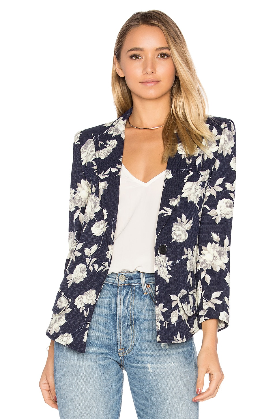 Sharp Shoulder Blazer at REVOLVE