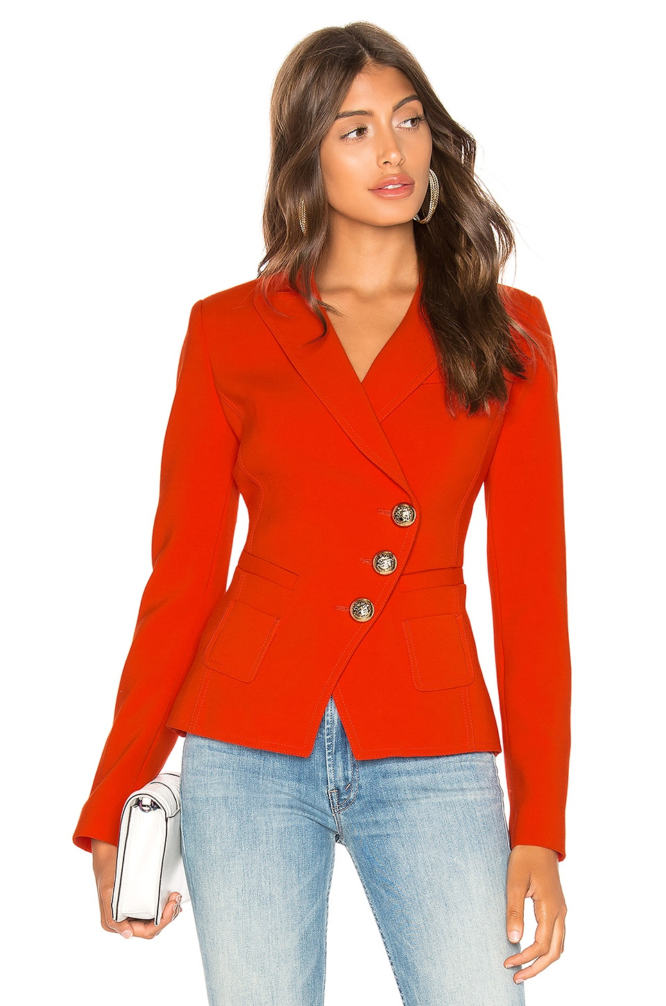 Smythe Wrap Blazer in Vermillion
