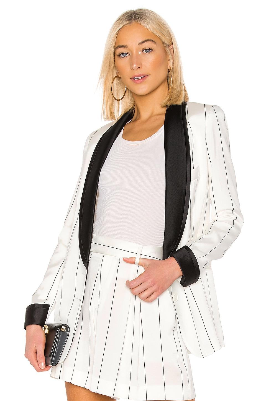Smythe Salon Blazer in White & Black