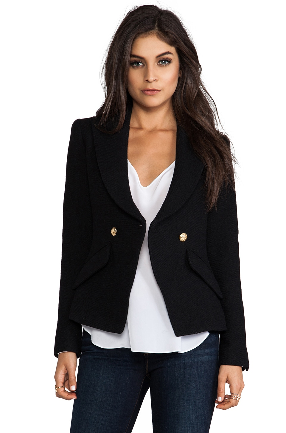 Smythe Crossover Blazer in Black