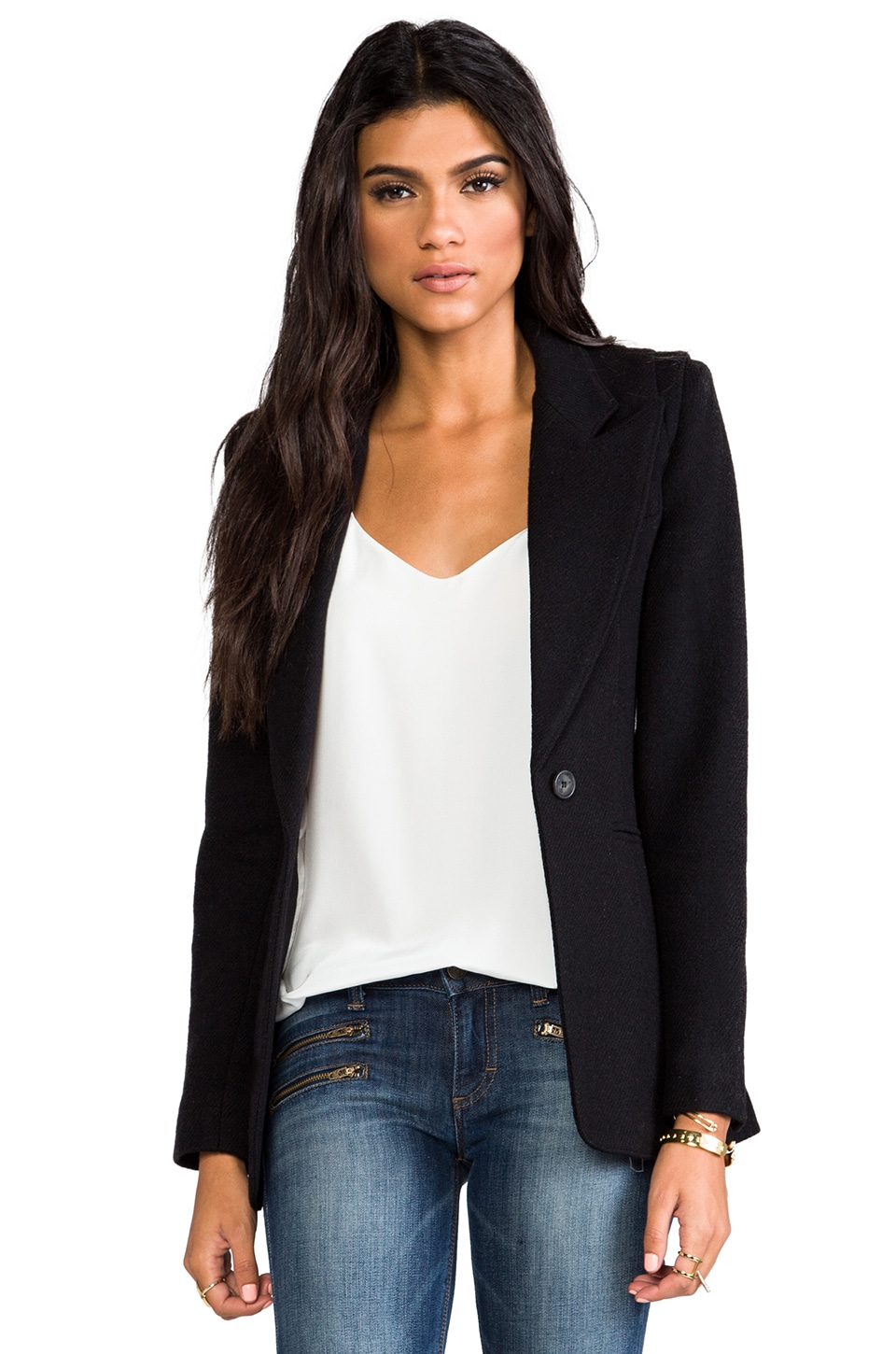Smythe Hourglass Blazer in Black