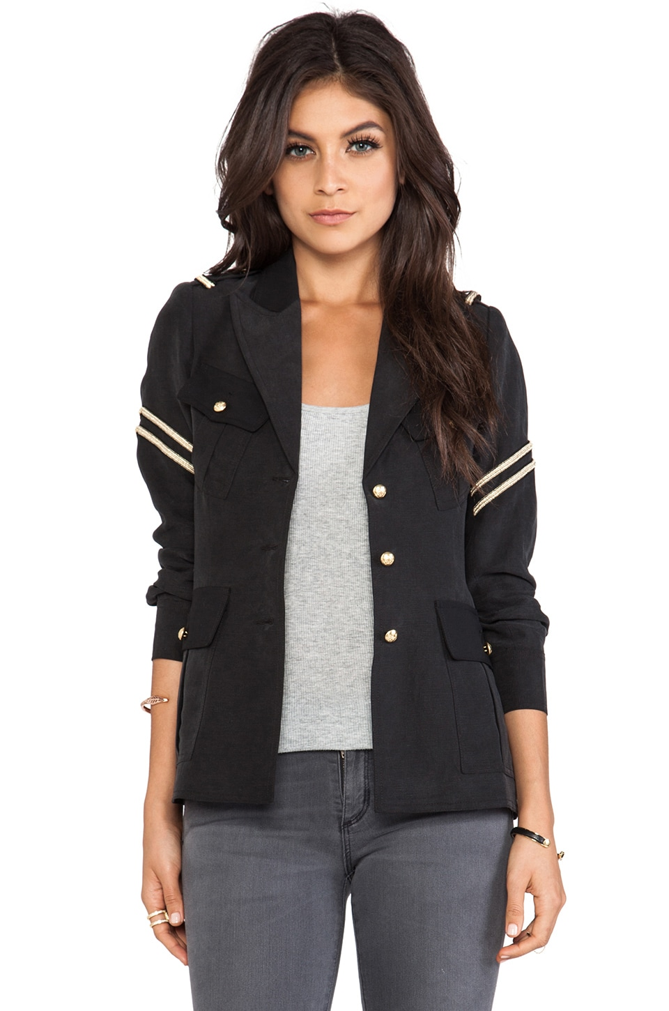 Smythe Military Jacket in Black Fade