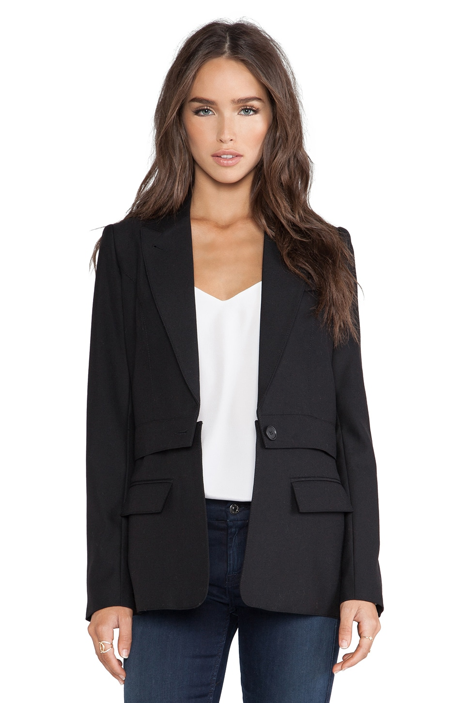 Smythe Twoforone Zip Off Blazer in Black