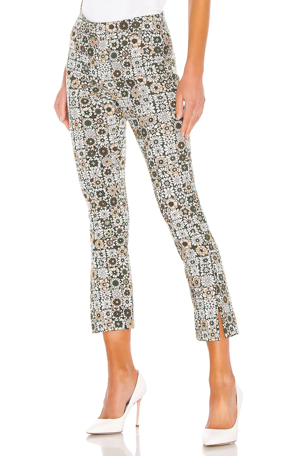 Smythe Stovepipe Pant in Graphic Floral