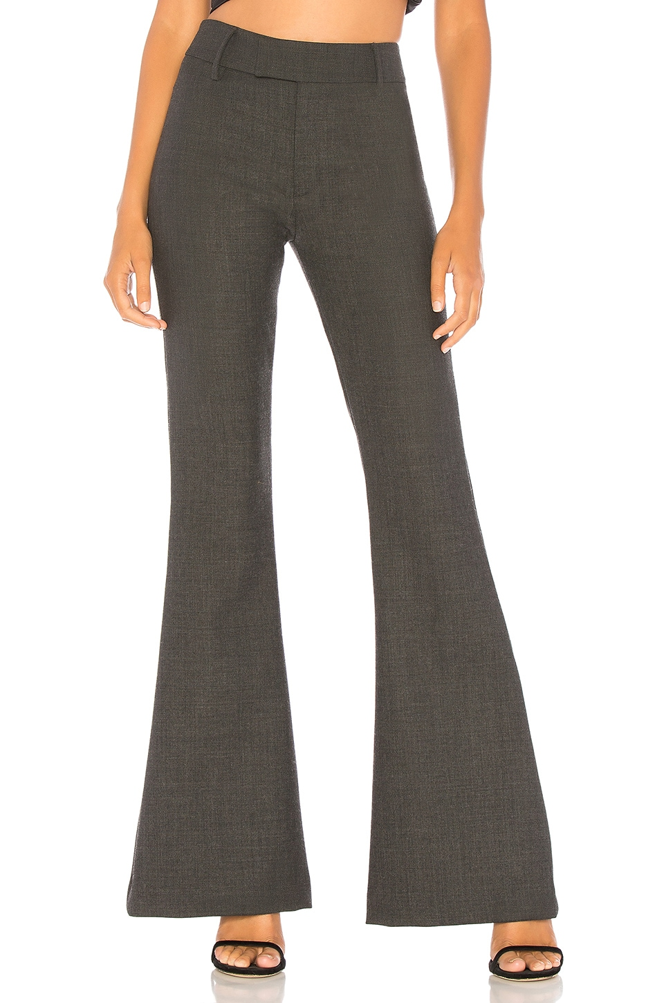 Smythe Bootcut Pant in Charcoal