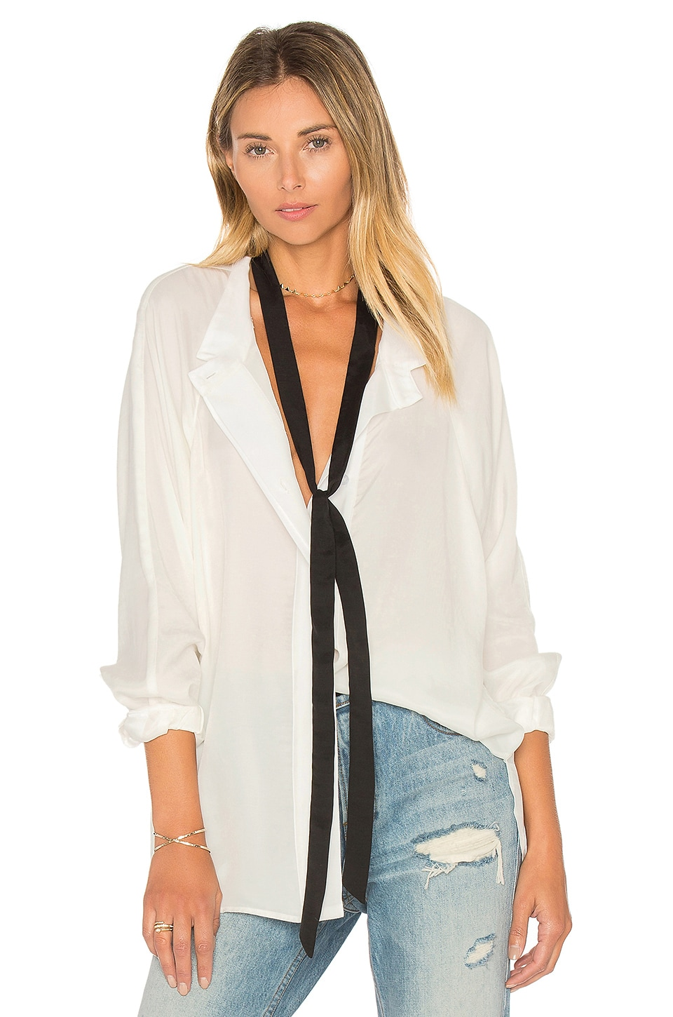 Tie Neck Shirt at REVOLVE