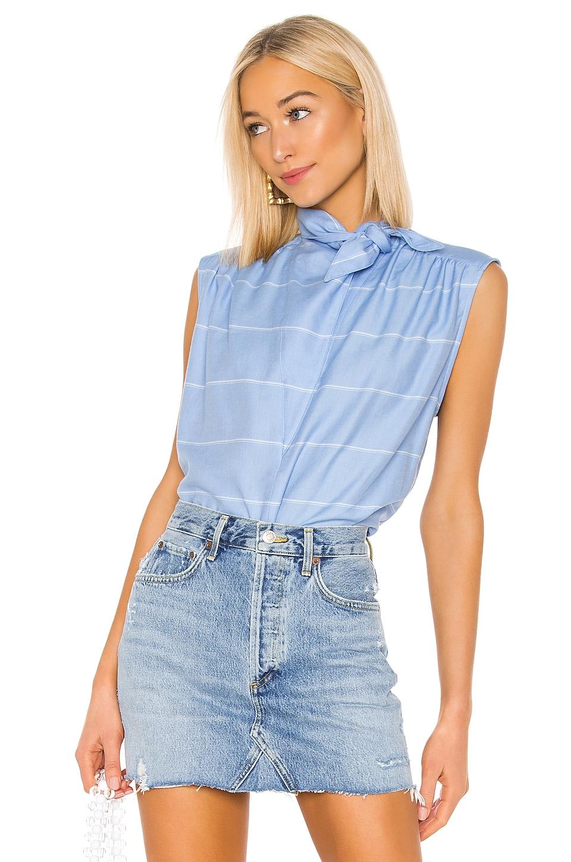 Smythe Sleeveless Bandana Neck Shirt in French Blue