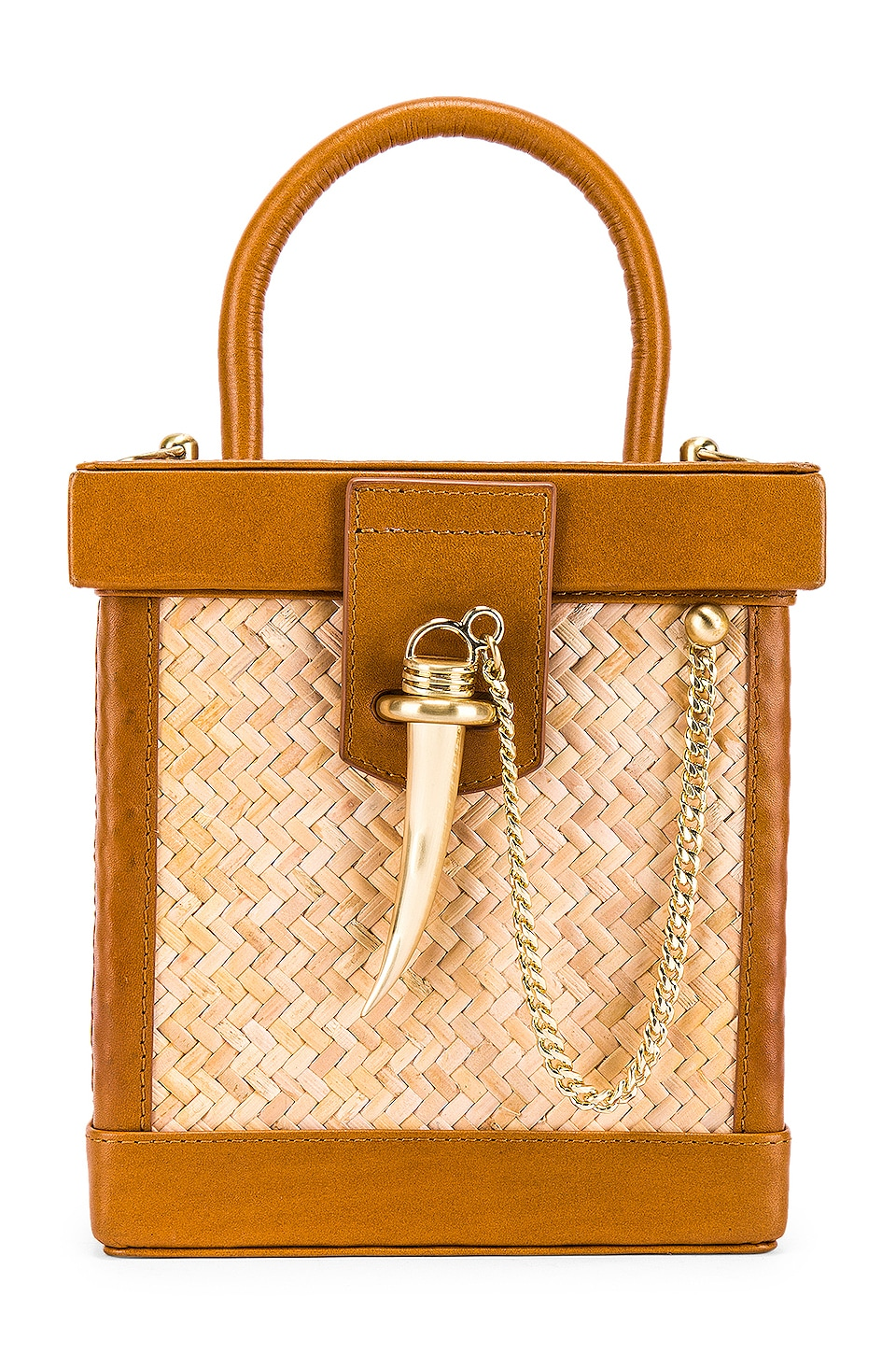 Sancia L'Echelle Mini Crossbody in Cognac