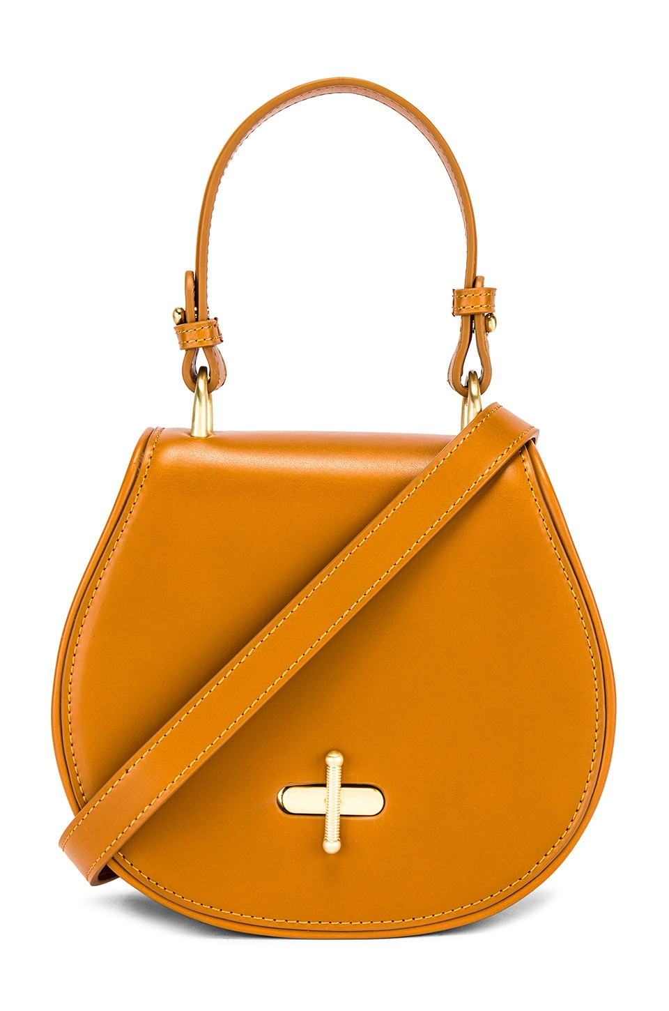 Sancia The Paloma Saddle Bag in Cognac