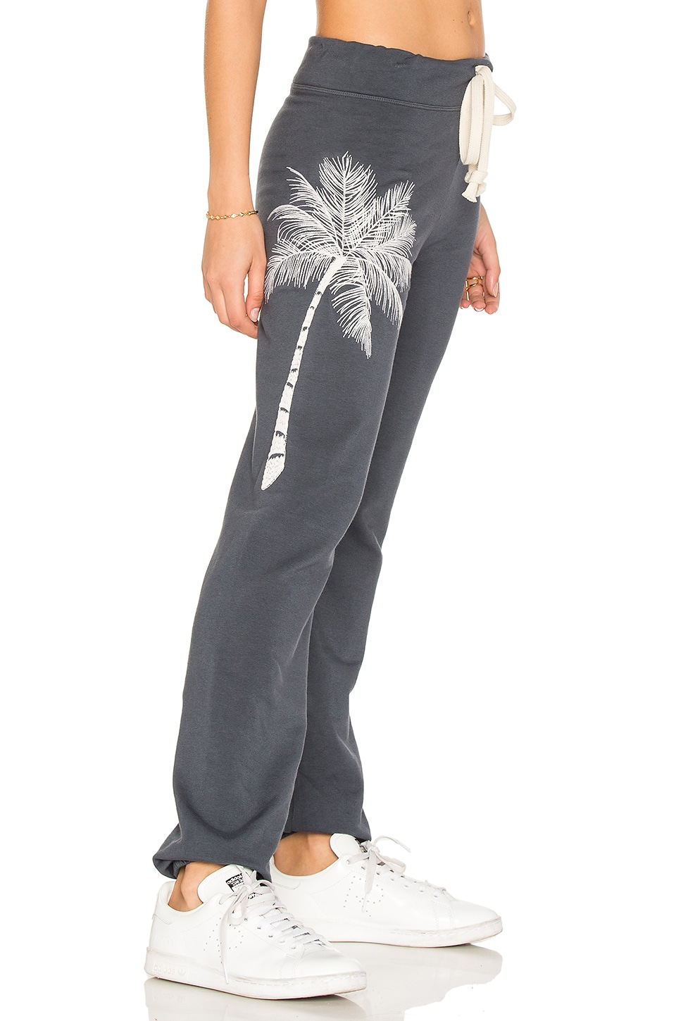 Sandrine Rose Embroidered Sweatpant in Charcoal