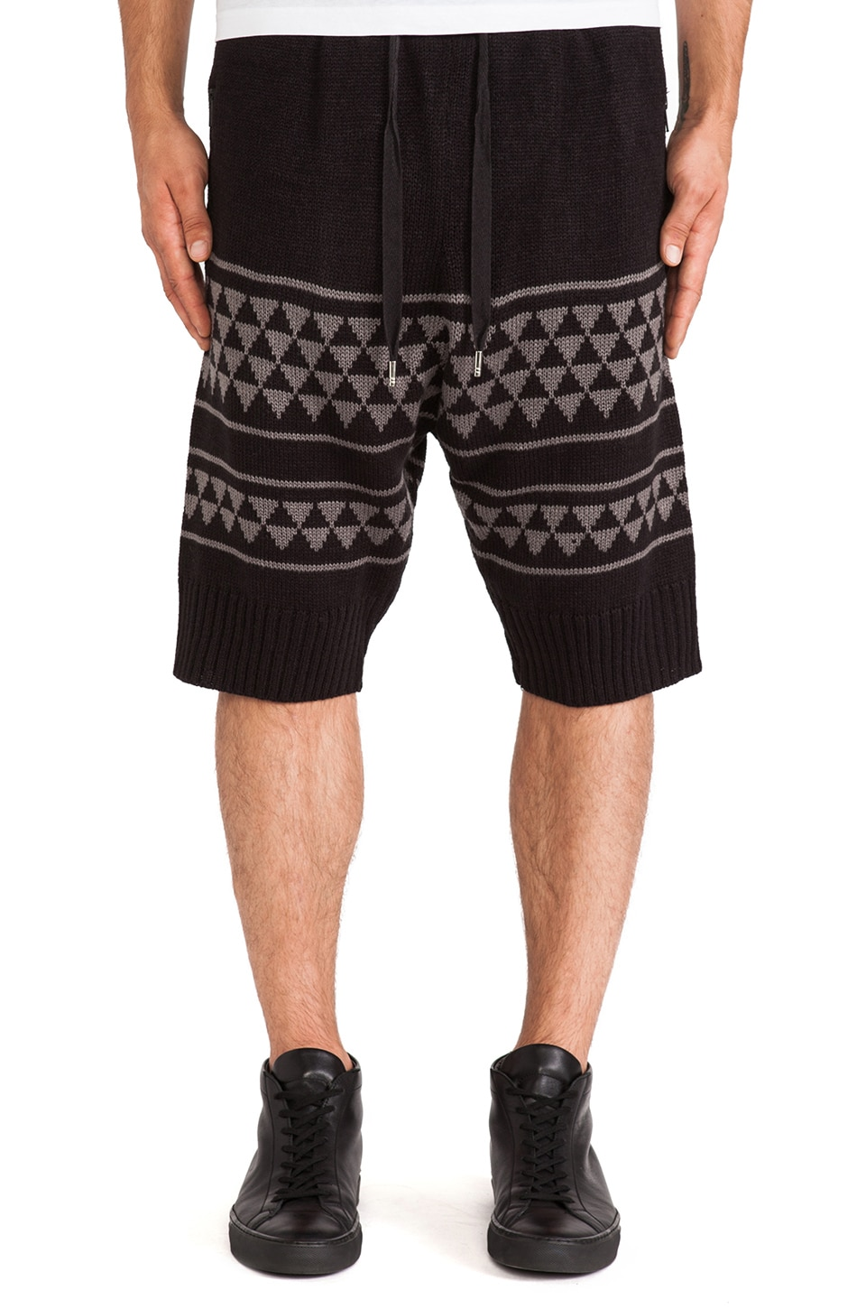 SKINGRAFT Knit Winter Shorts in Black