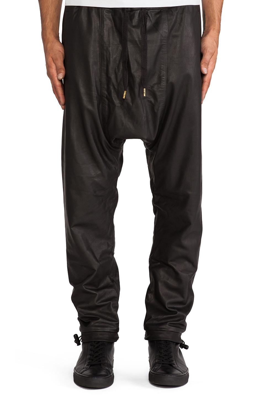SKINGRAFT Leather Jogging Pant in Black