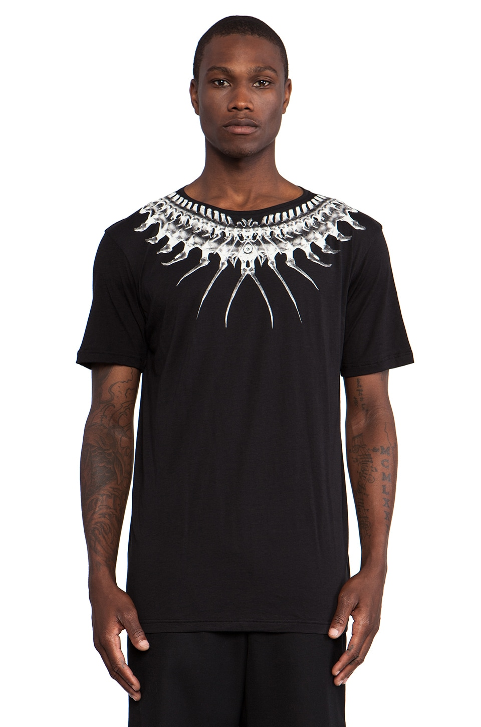 SKINGRAFT Bones Tribe T-Shirt in Black