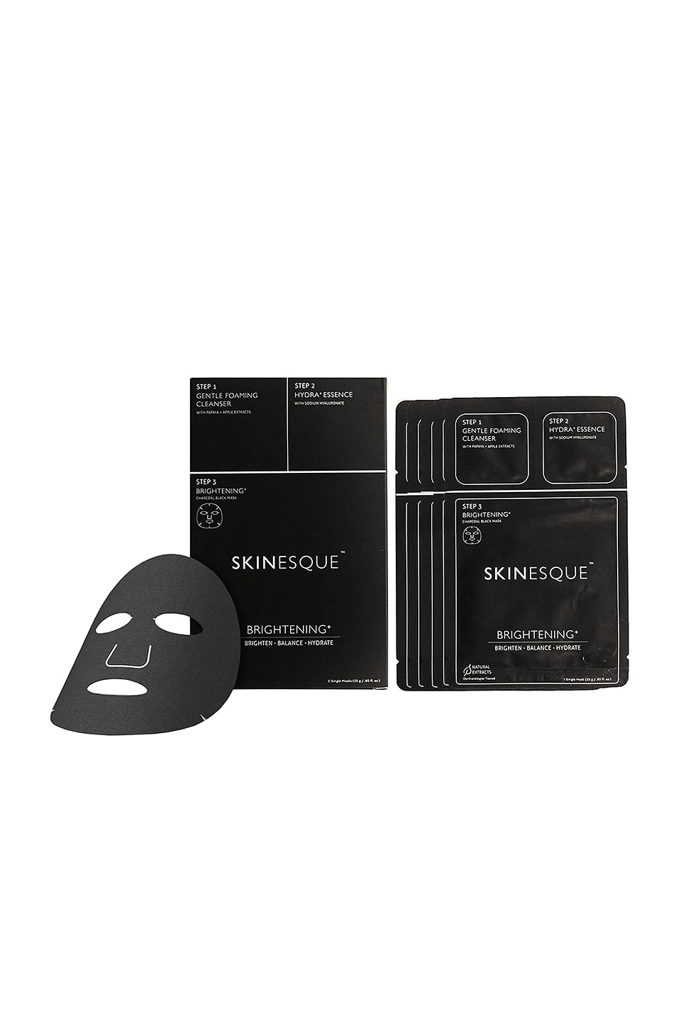 SKINESQUE 3 Step Brightening And Charcoal Mask in N/A