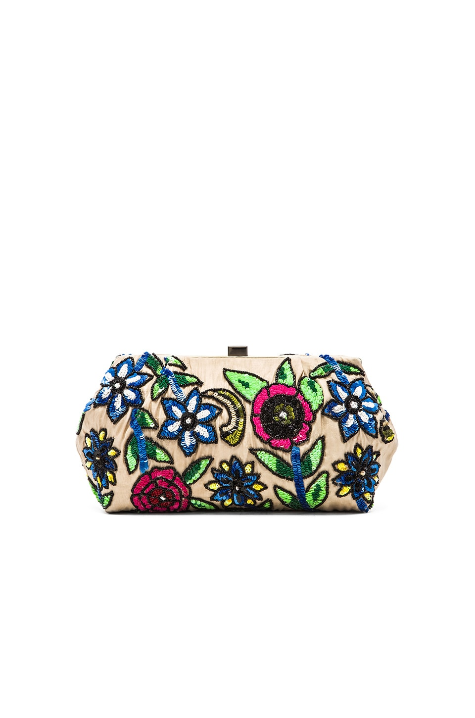Santi Sequin Floral Clutch in Multi