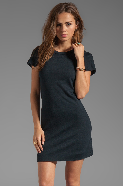 SONIA by Sonia Rykiel Light Jersey Short Sleeve Dress in Navy