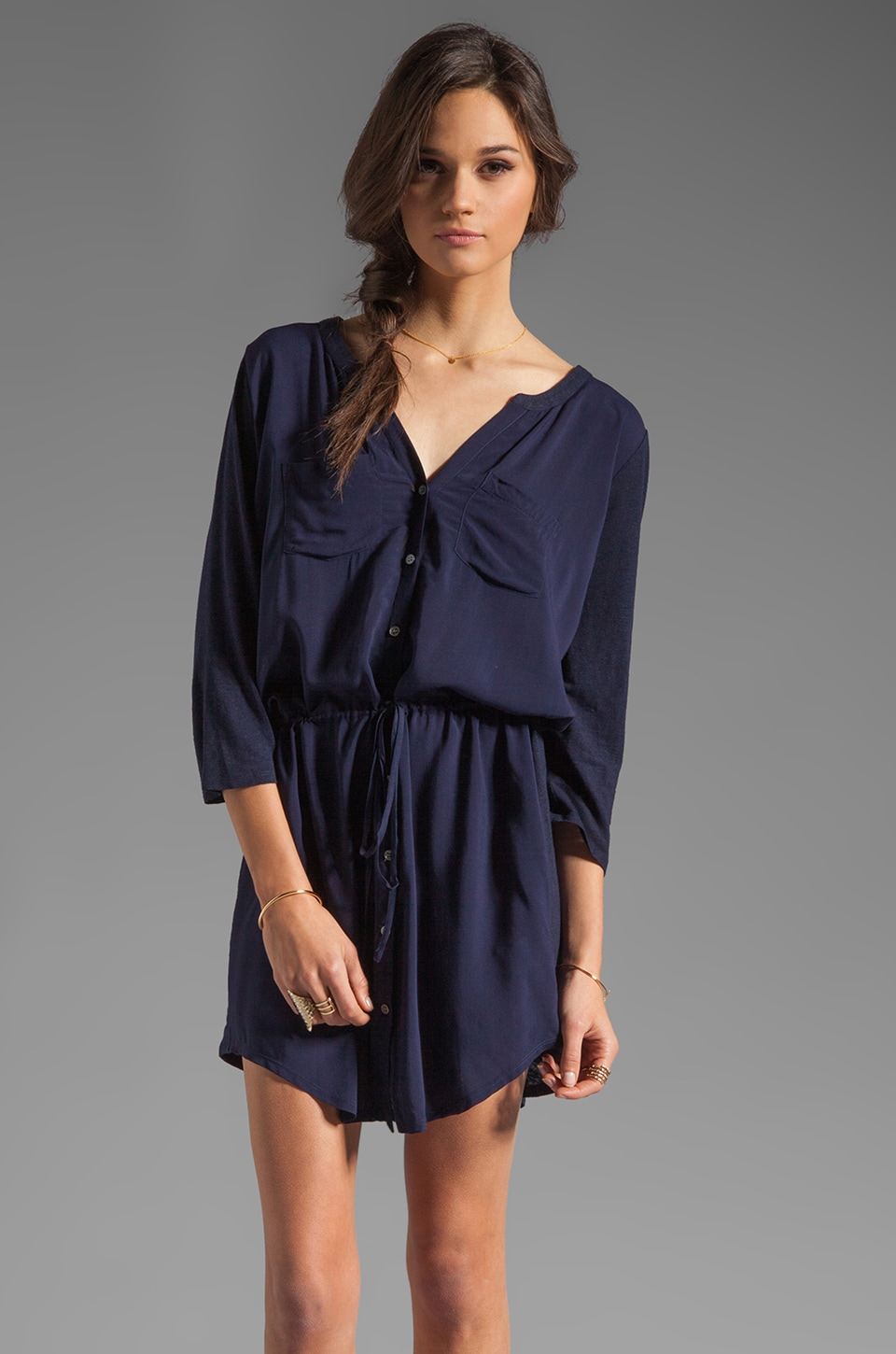 Soft Joie Dayle Linen Dress in Peacoat