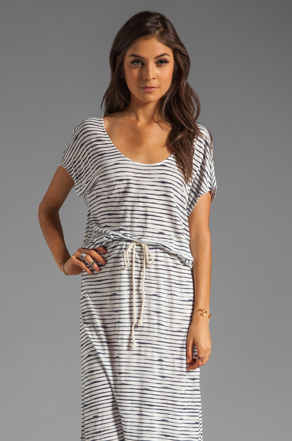 Soft Joie Syrah Stripe Jersey Dress in Peacoat