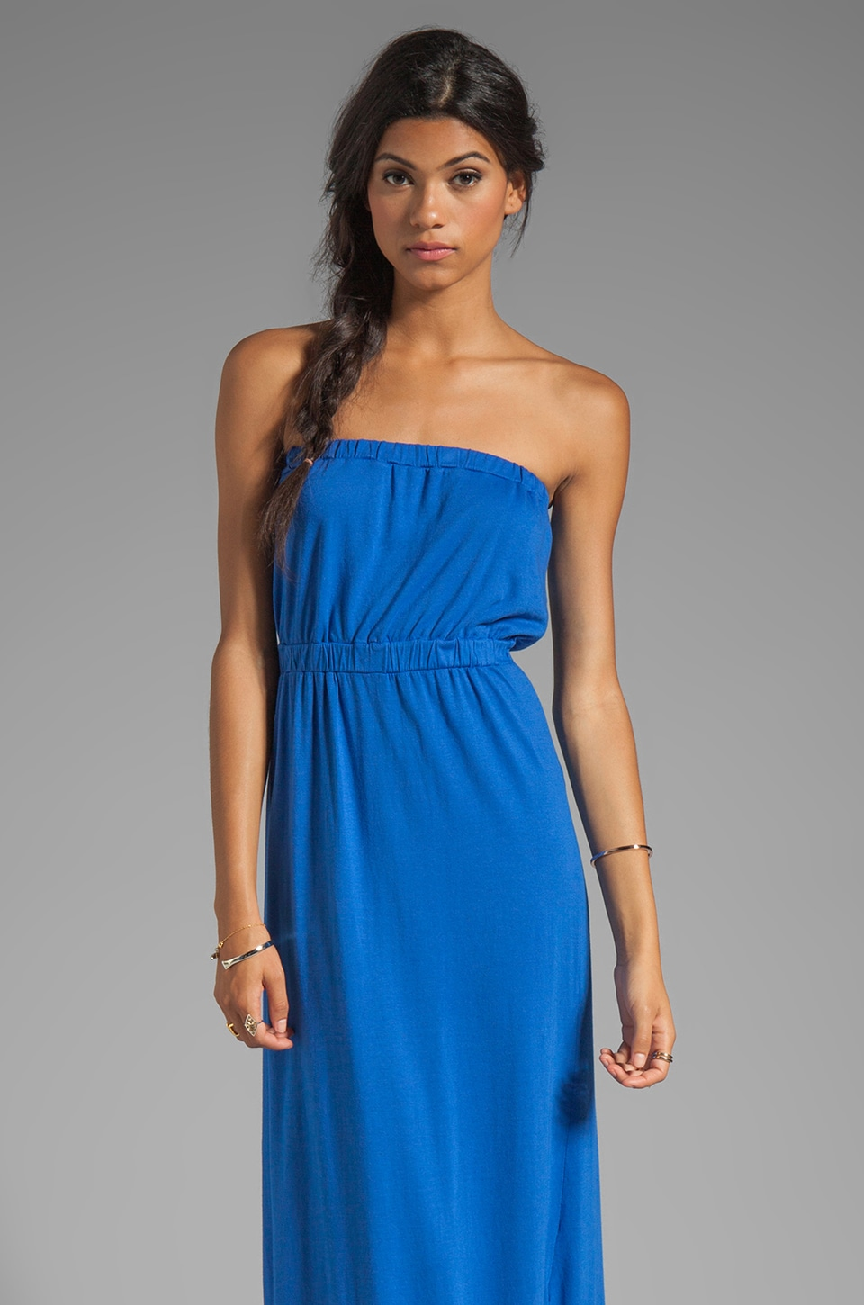 Soft Joie Cade Strapless Jersey Dress in Mazarine Blue
