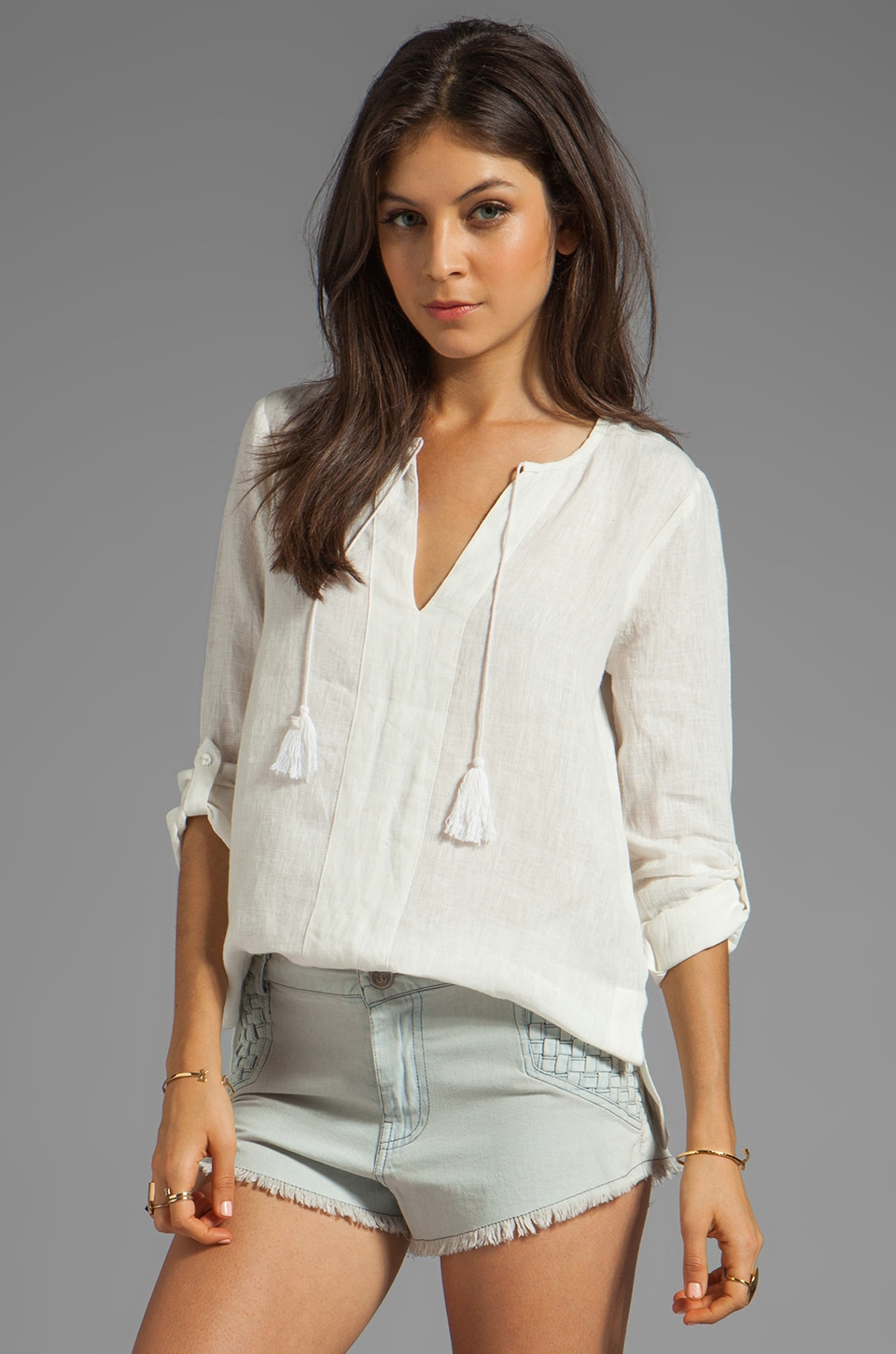 Soft Joie Minda Top in Porcelain