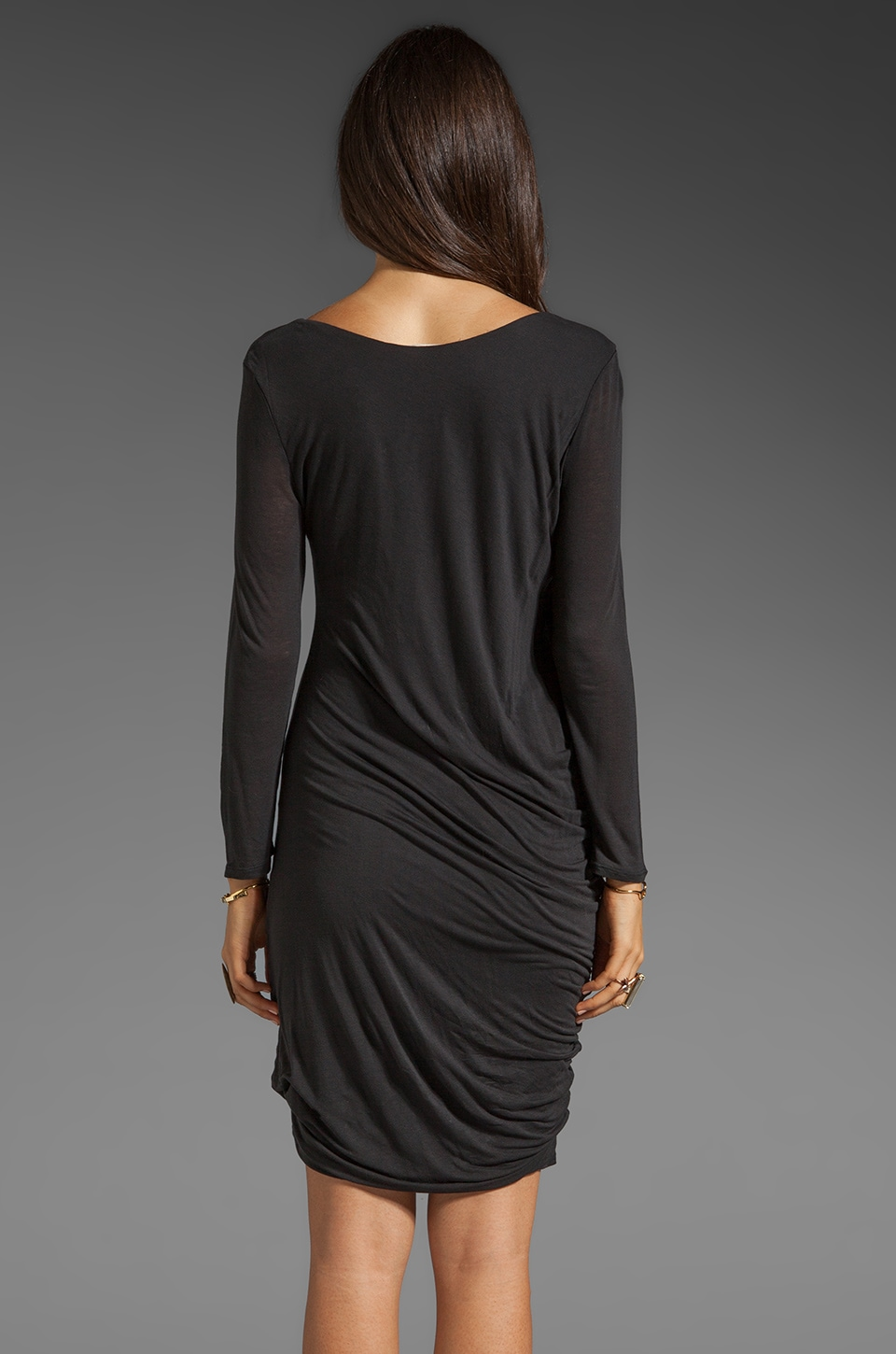 Soft Joie Avrele Drape Dress in Caviar