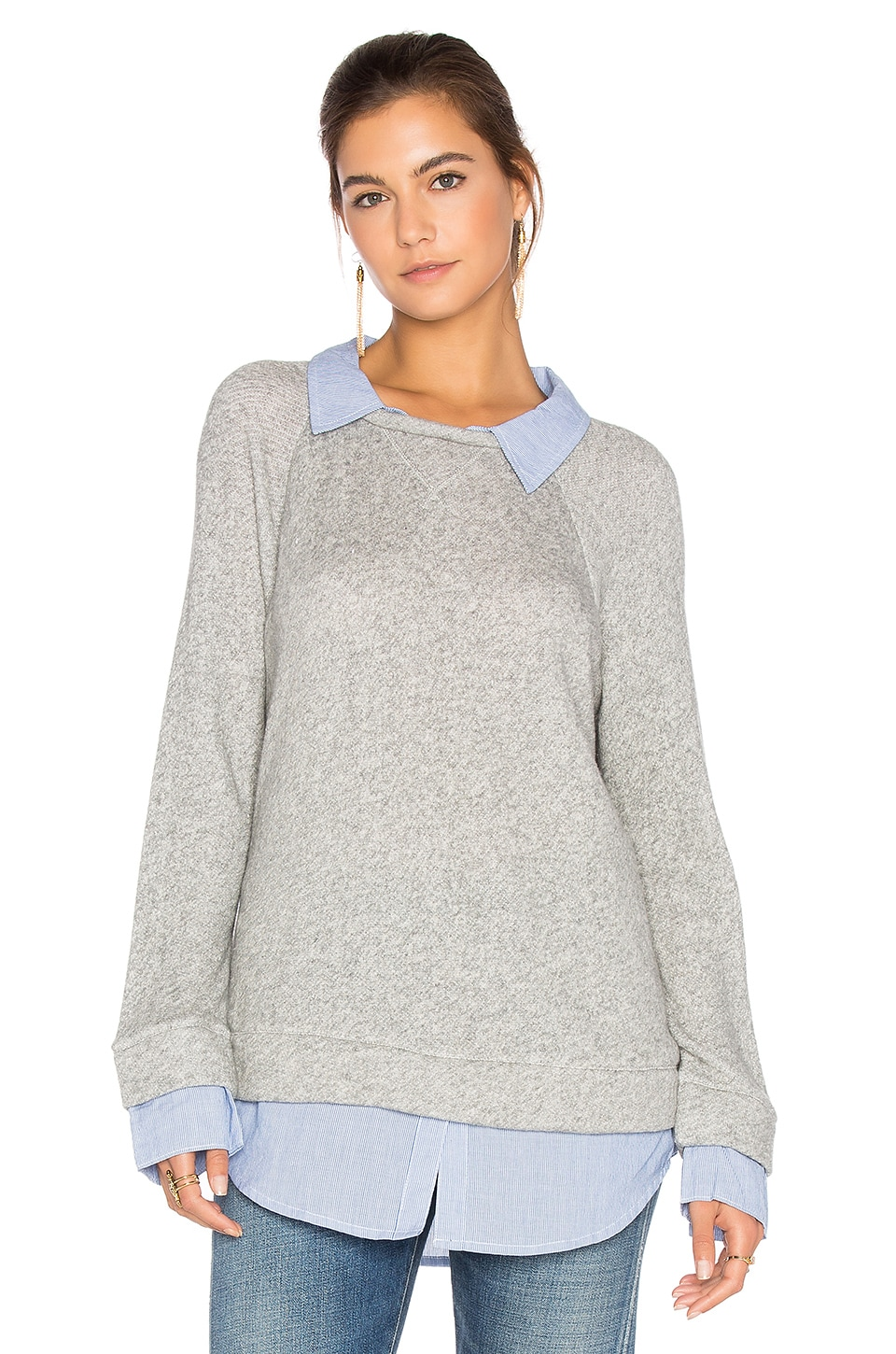 eae857745f7 Soft Joie Diadem Pullover in Heather Grey   Slate Blue
