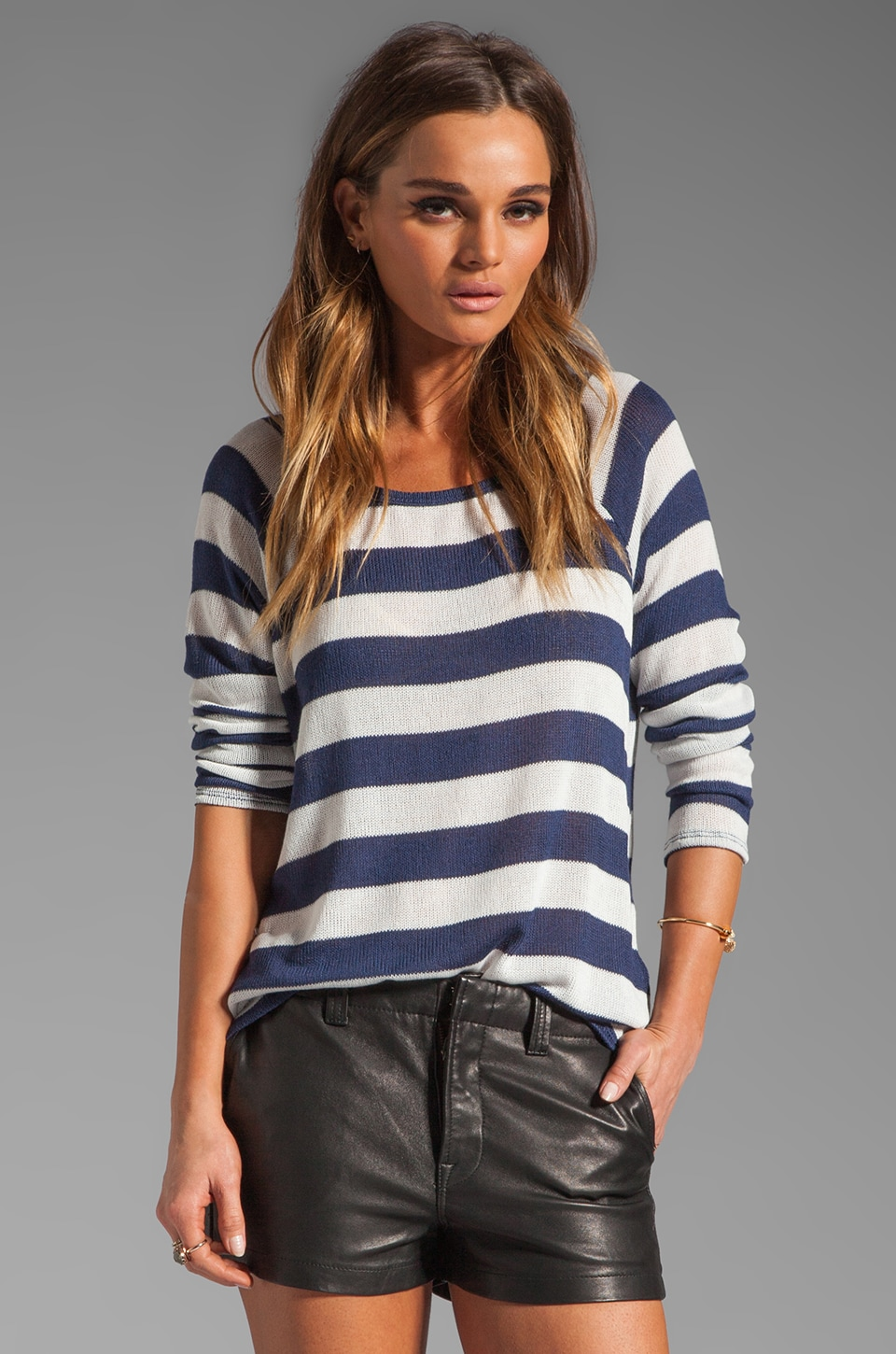 Soft Joie Dalya Stripe Sweater in Peacoat