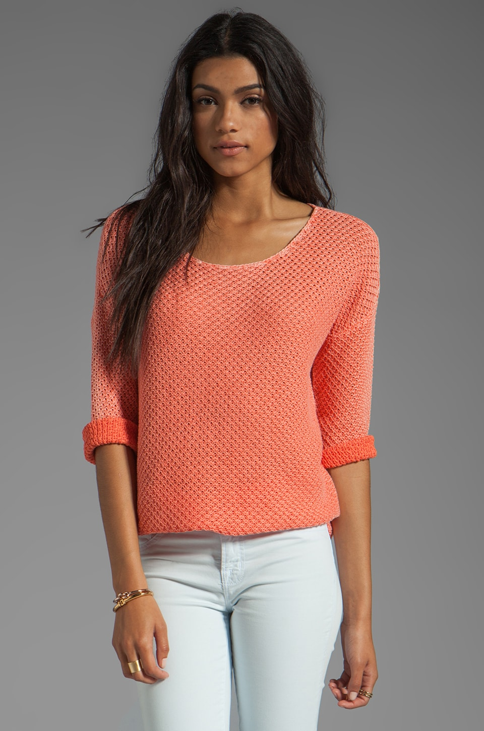 Soft Joie Dhana B Pullover Sweater in Fresh Salmon