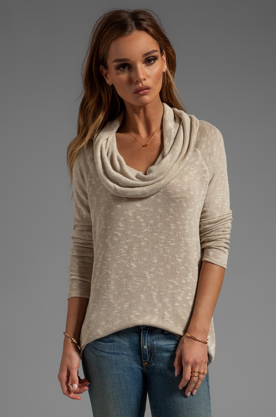 Soft Joie Wayne Sweater in Oatmeal