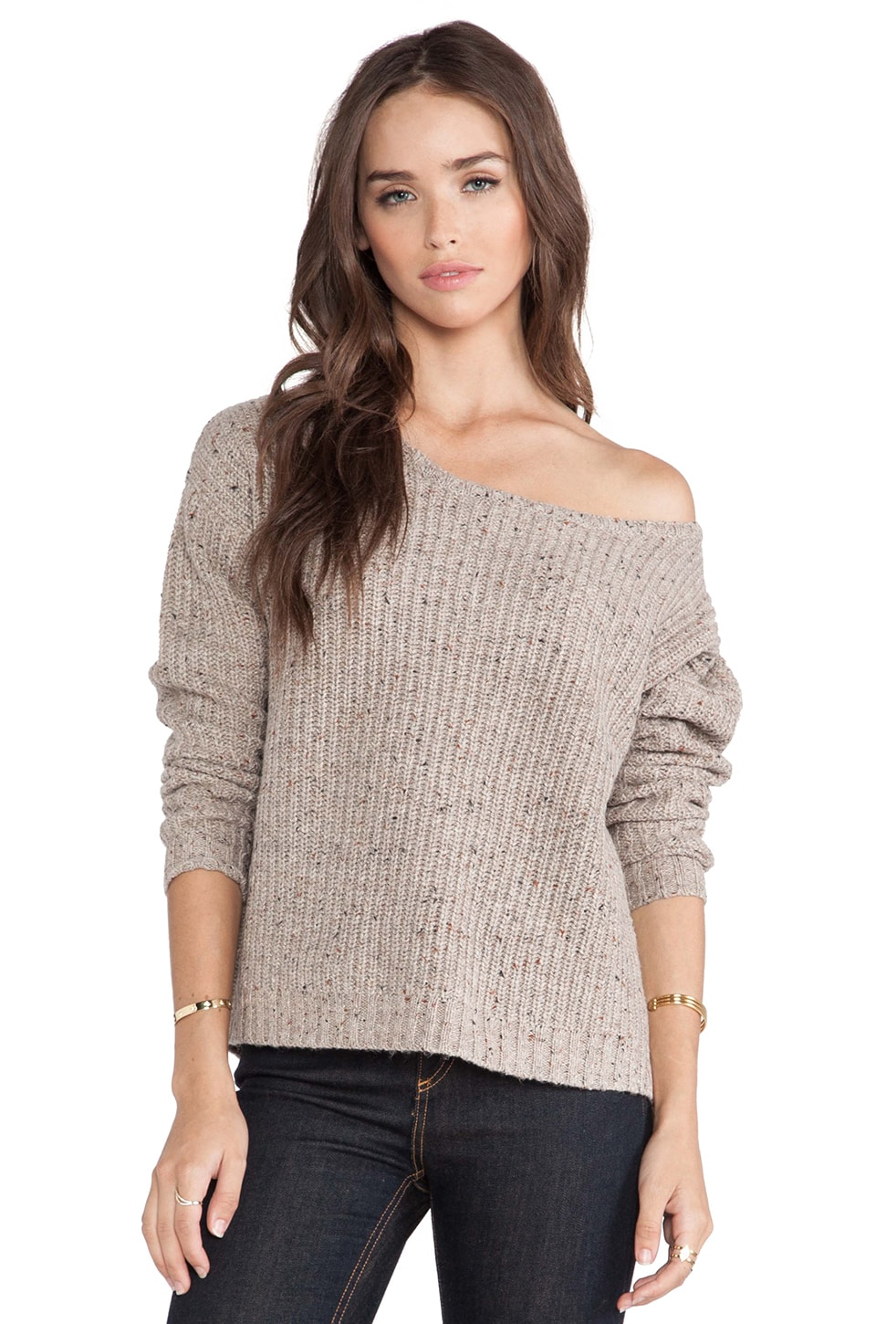 Soft Joie Amaryllis Sweater in Dark Heather Camel