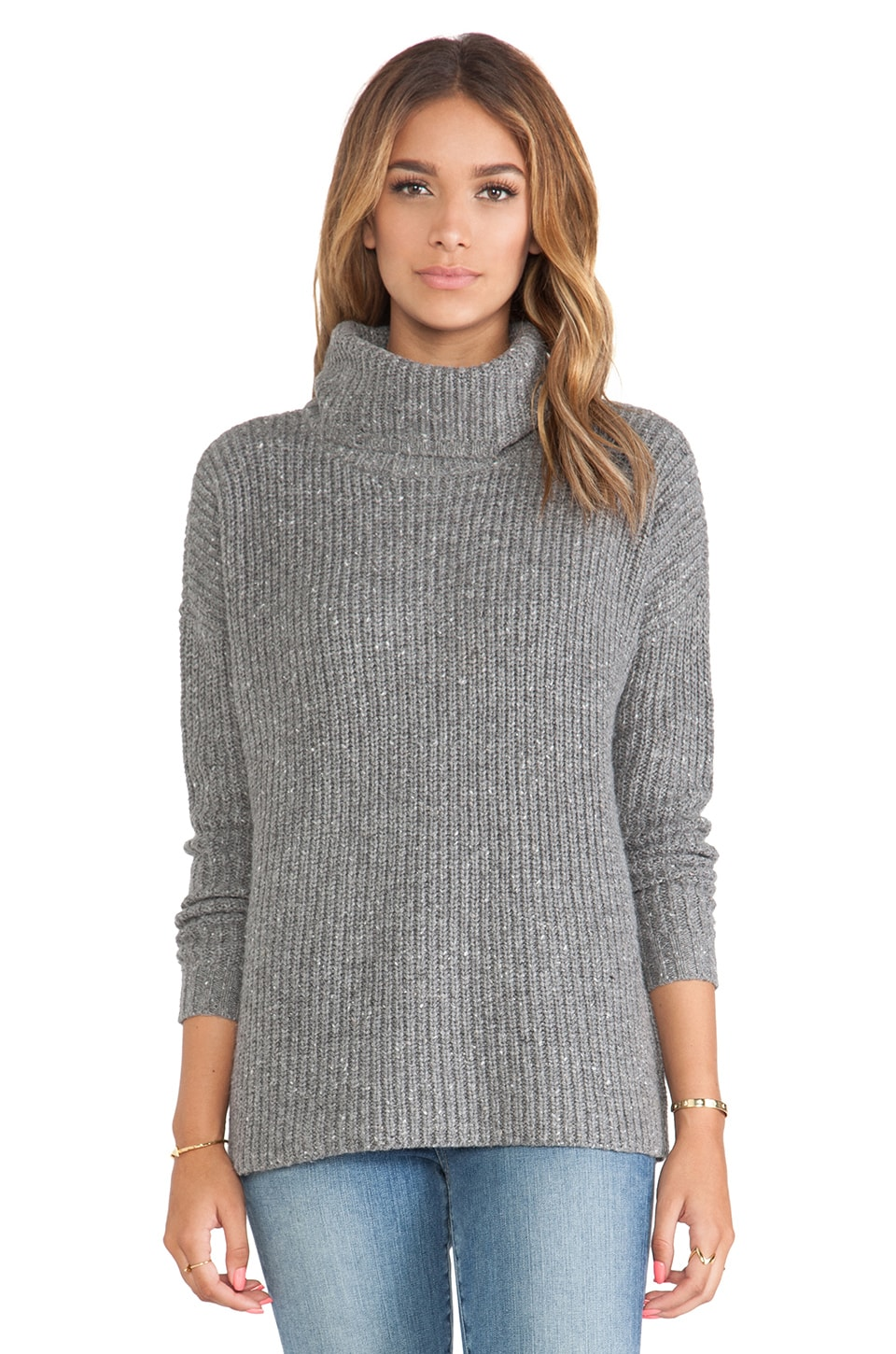Soft Joie Lynfall Sweater in Dark Heather Grey