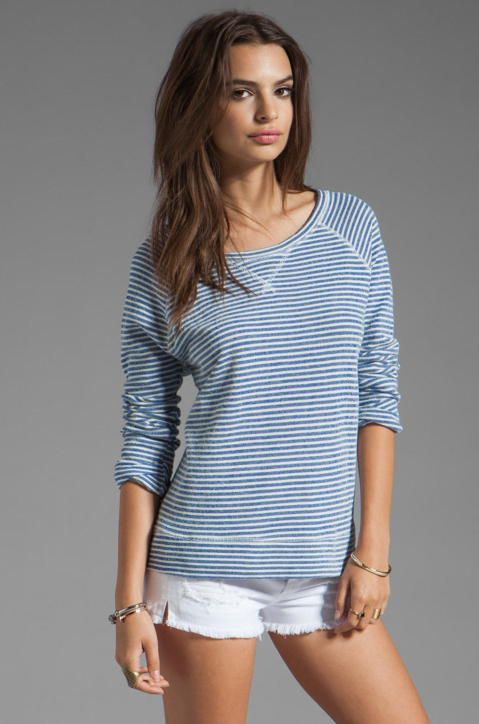 Soft Joie Emma Striped Pullover in Mazarine Blue