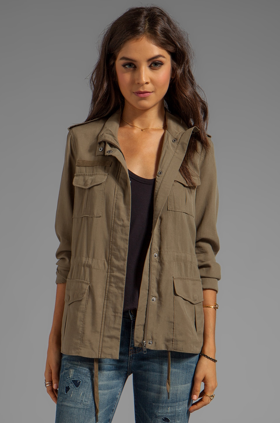 Soft Joie Elexus Military Jacket in Capers