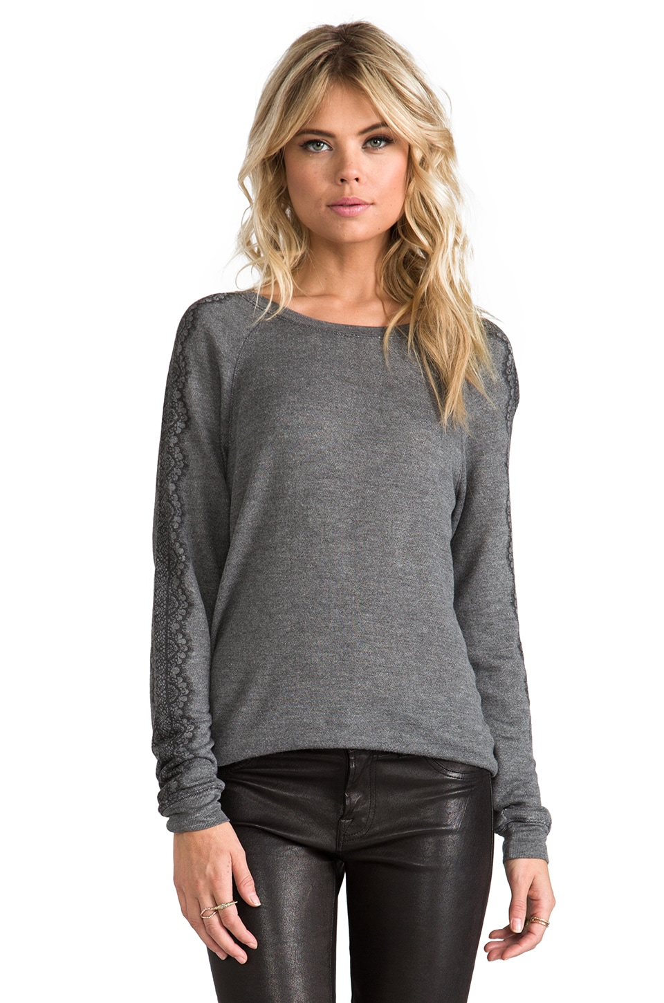 Soft Joie Annora B Sweatshirt in Dark Heather Grey