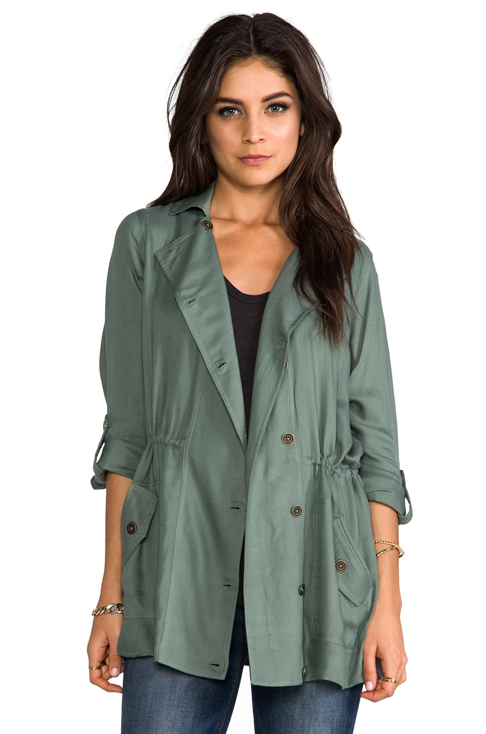 Soft Joie Cantara Jacket in Agave Green