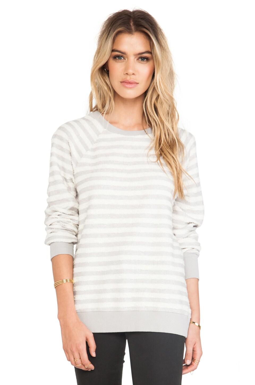 Soft Joie Annora Sweatshirt in Ash Grey & Antique White