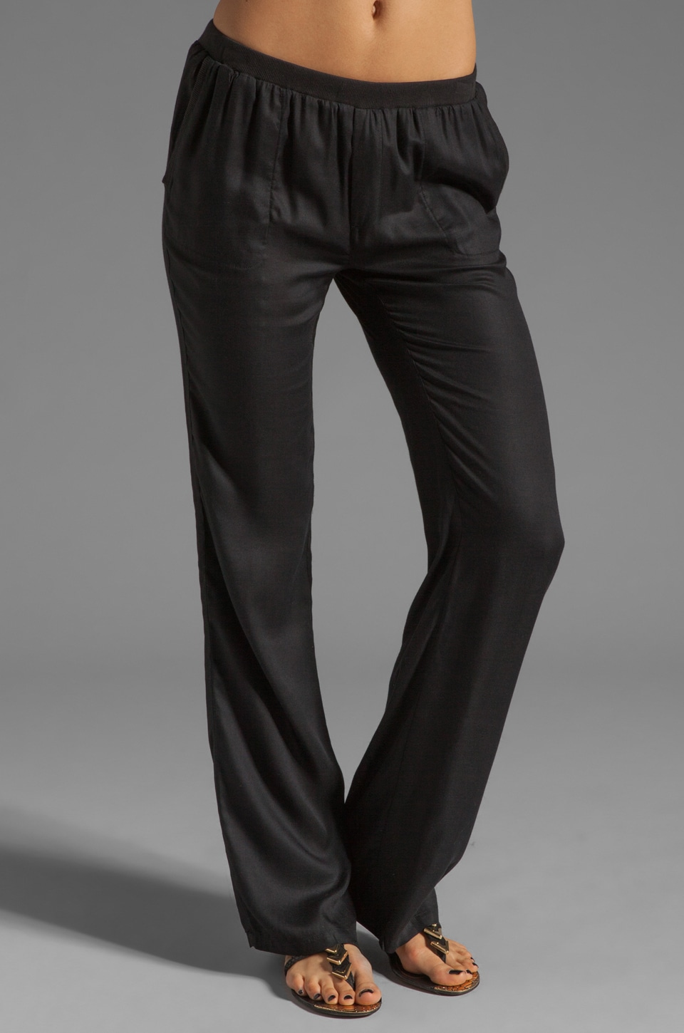 Soft Joie Thatcher Wide Leg Pant in Caviar