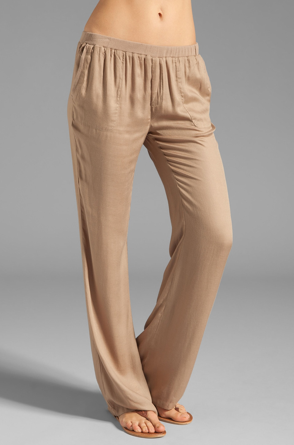 Soft Joie Thatcher Wide Leg Pant in Dark Sand