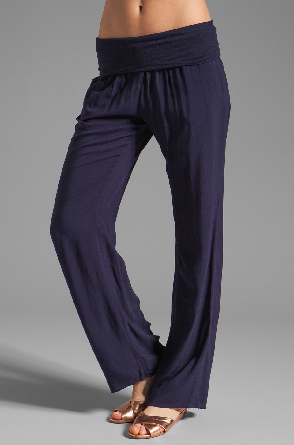 Soft Joie Pia Linen Pant in Peacoat
