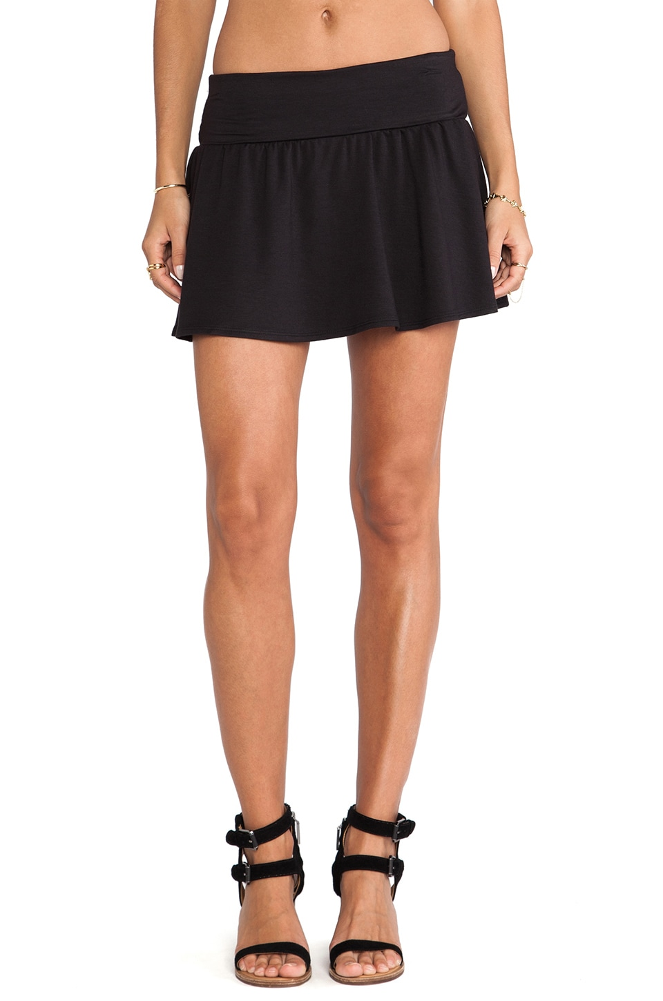 Soft Joie Kaydree Ponte Skirt in Caviar