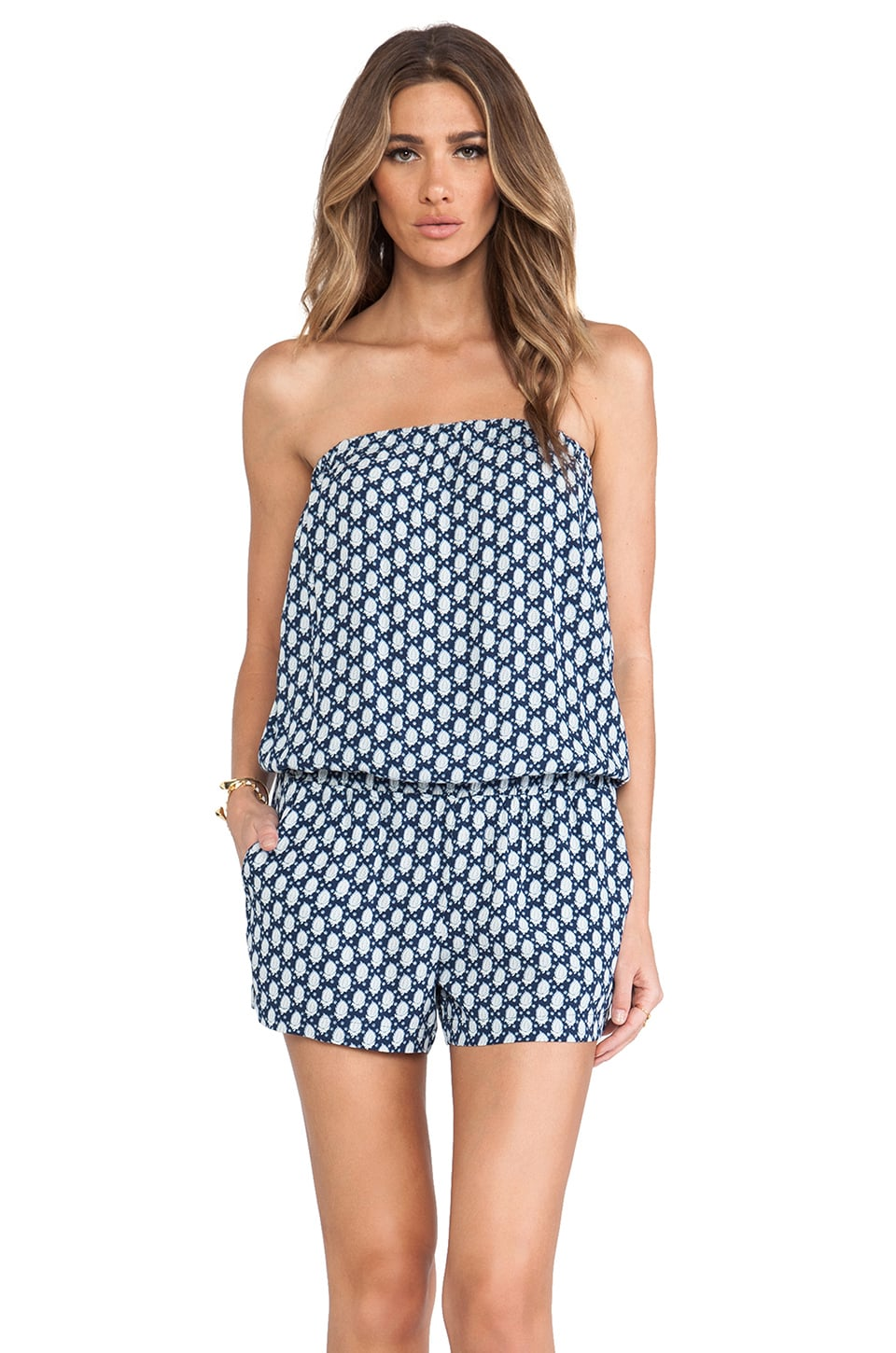 Soft Joie Gidget Romper in Indigo Blue