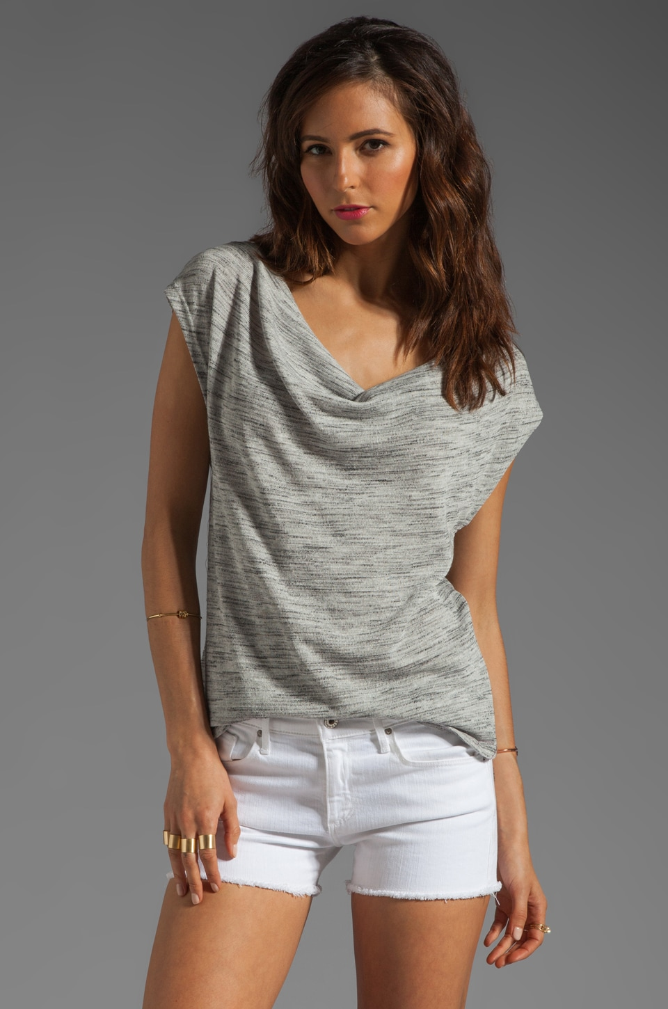 Soft Joie Clelia Spaced Dye Top in Dim