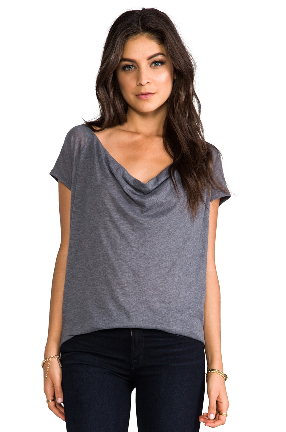 Soft Joie Imogen Top in Dark Heather Grey