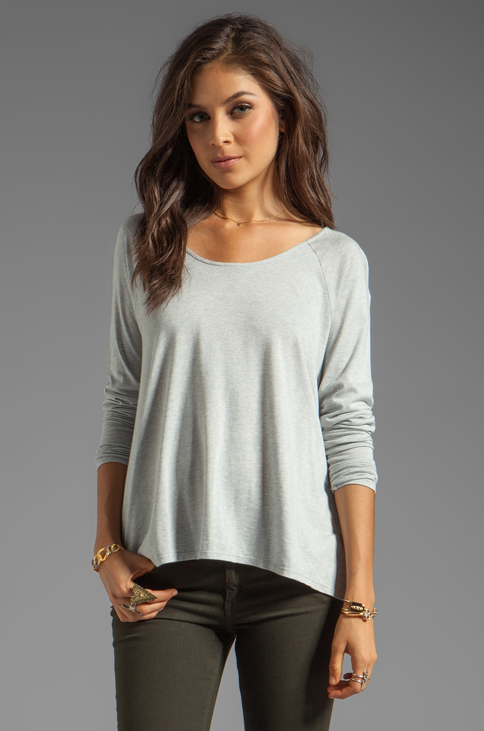 Soft Joie Hildago Top in Heather Grey
