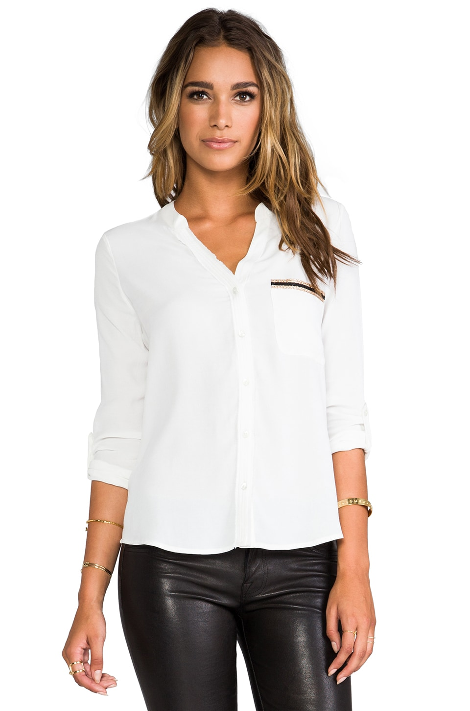 Soft Joie Anabella C Blouse in Porcelain